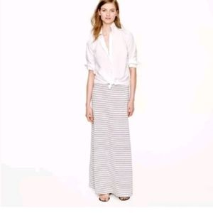 J. Crew Womens Gray/Off-White Maxi Skirt, Size XS